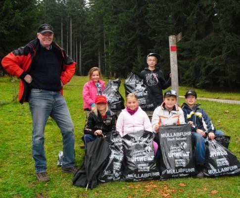 Müllsammeln Jungschützen