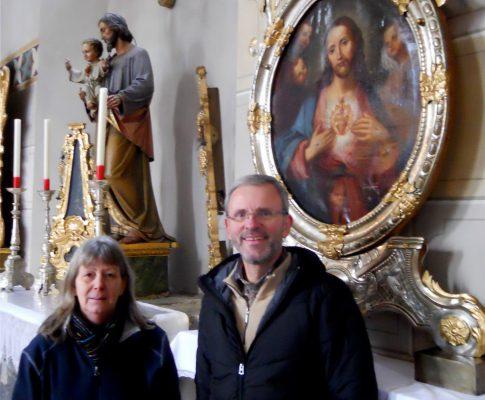 Herz-Jesu-Bild wieder in der Pfarrkirche